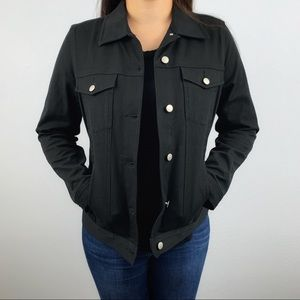 Real Clothes Saks Fifth Avenue black  jean jacket